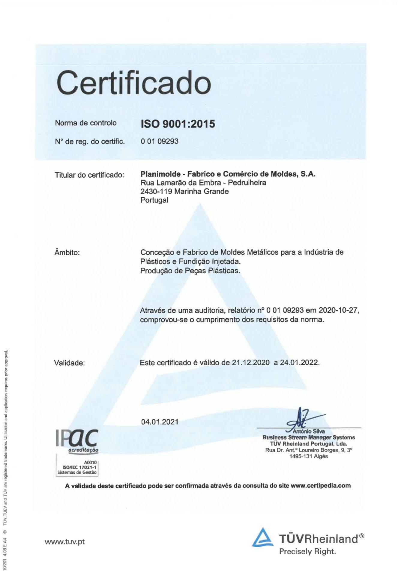 CertificadoISO9001 PT